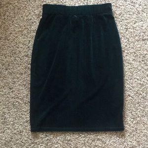 Hunter Green Velvet Agnes & Dora Pencil Skirt
